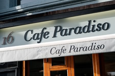 Cafe Paradiso Opening Hours